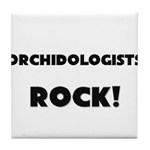 Orchidologists ROCK Tile Coaster