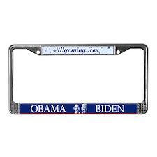 Wyoming for Obama License Plate Frame