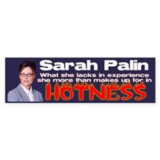 Palin is Hot Bumper Bumper Sticker
