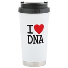 I Heart DNA Ceramic Travel Mug