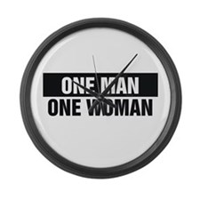 One Man One Woman Large Wall Clock