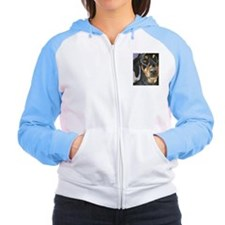 Cute Doberman pinscher art Women's Raglan Hoodie