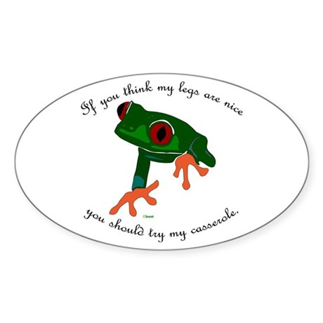 Nice Frog Legs Oval Sticker
