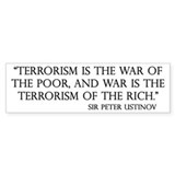 War and Terror Bumper Car Sticker