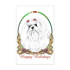 Maltese Happy Holidays Posters