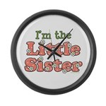 I'm the Little Sister Large Wall Clock
