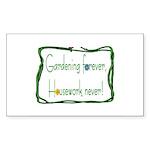 Gardener Rectangle Sticker 50 pk)