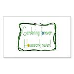 Gardener Rectangle Sticker 10 pk)