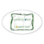 Gardener Oval Sticker (50 pk)