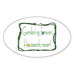 Gardener Oval Sticker (10 pk)
