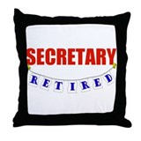 Retired Secretary Throw Pillow