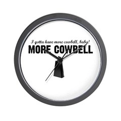 More Cowbell Wall Clock