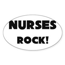 Nursemaids ROCK Oval Decal