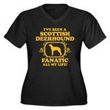 Scottish Deerhound Women's Plus Size V-Neck Dark T