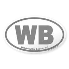 Wrightsville Beach WB Euro Oval Decal