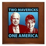 Two Mavericks, One America Framed Tile