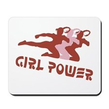 Girls Rule! Girl power t-shir Mousepad