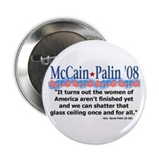 "McCain/Palin Shattered Glass Ceiling 2.25"" Bu"