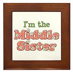 I'm the Middle Sister Framed Tile