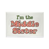 I'm the Middle Sister Rectangle Magnet (10 pack)