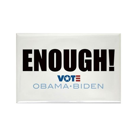 ENOUGH! Vote Obama Biden Rectangle Magnet