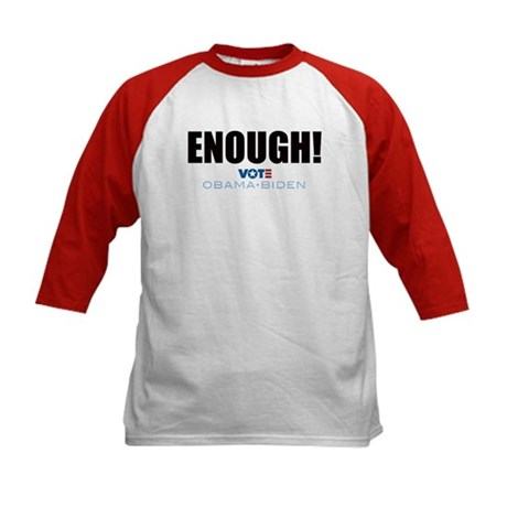 ENOUGH! Vote Obama Biden Kids Baseball Jersey