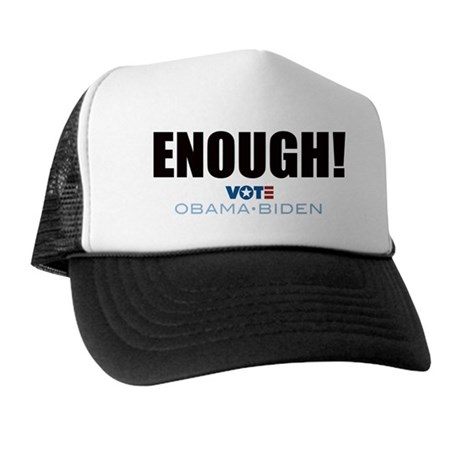 ENOUGH! Vote Obama Biden Trucker Hat