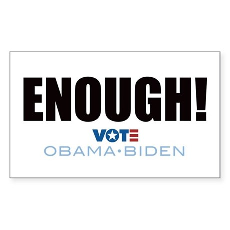 ENOUGH! Vote Obama Biden Rectangle Sticker 50 pk)