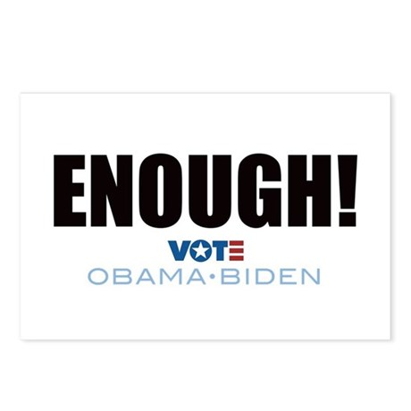 ENOUGH! Vote Obama Biden Postcards (Package of 8)