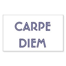 front - Carpe Diem, back - Seize the Day Decal