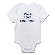 Peace, Love, Cane Toads Infant Bodysuit
