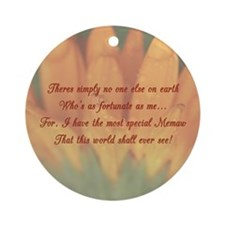 Memaw Orange Daisy Ornament (Round)