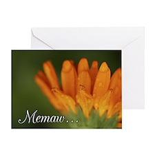 Memaw Orange Daisy Greeting Card