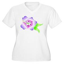 HAWAIIAN HIBISCUS FLOWER WOMEN'S PLUS SIZE V NECK