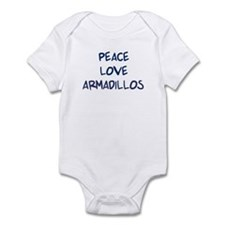 Peace, Love, Armadillos Infant Bodysuit
