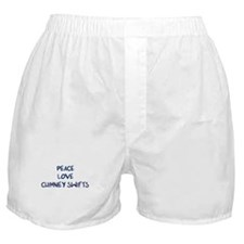 Peace, Love, Chimney Swifts Boxer Shorts
