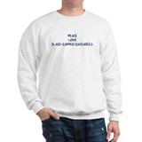 Peace, Love, Black-Capped Chi Sweatshirt