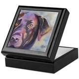 Unique Black lab art Keepsake Box