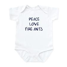 Peace, Love, Fire Ants Infant Bodysuit