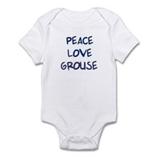 Peace, Love, Grouse Infant Bodysuit