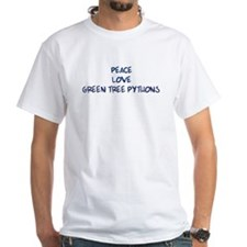 Peace, Love, Green Tree Pytho Shirt