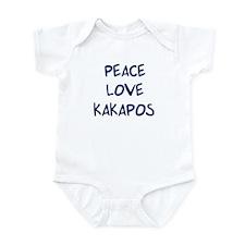 Peace, Love, Kakapos Infant Bodysuit