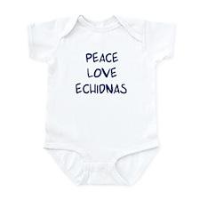 Peace, Love, Echidnas Infant Bodysuit