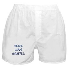 Peace, Love, Giraffes Boxer Shorts