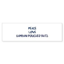 Peace, Love, Gambian Pouched Bumper Sticker