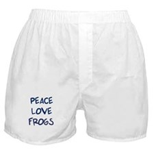 Peace, Love, Frogs Boxer Shorts