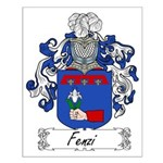 Fenzi Family Crest Small Poster