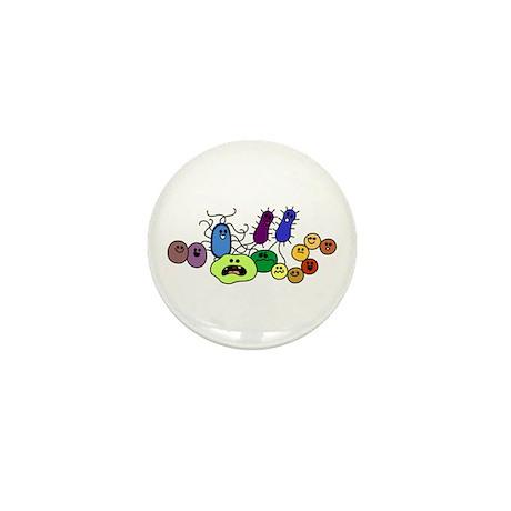 I Love Bacteria Too! Mini Button