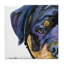 Cute Rott Tile Coaster