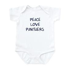 Peace, Love, Panthers Infant Bodysuit